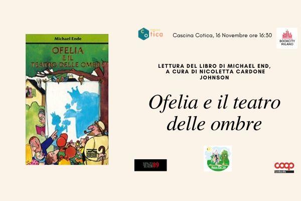 """BookCity in Cotica – Lettura del libro """"Ofelia e il teatro delle ombre"""""""