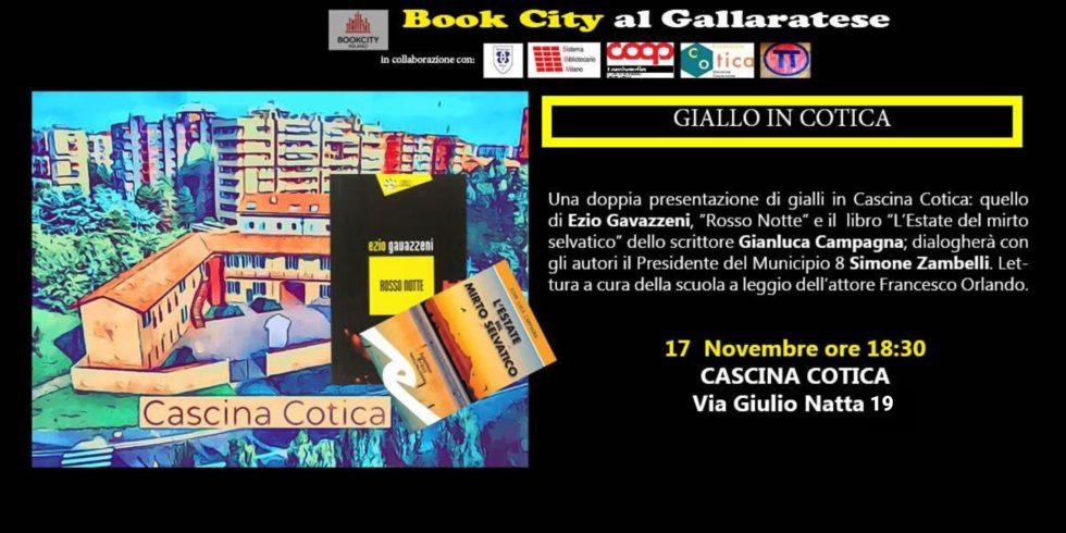 BookCity in Cascina. Giallo in Cotica