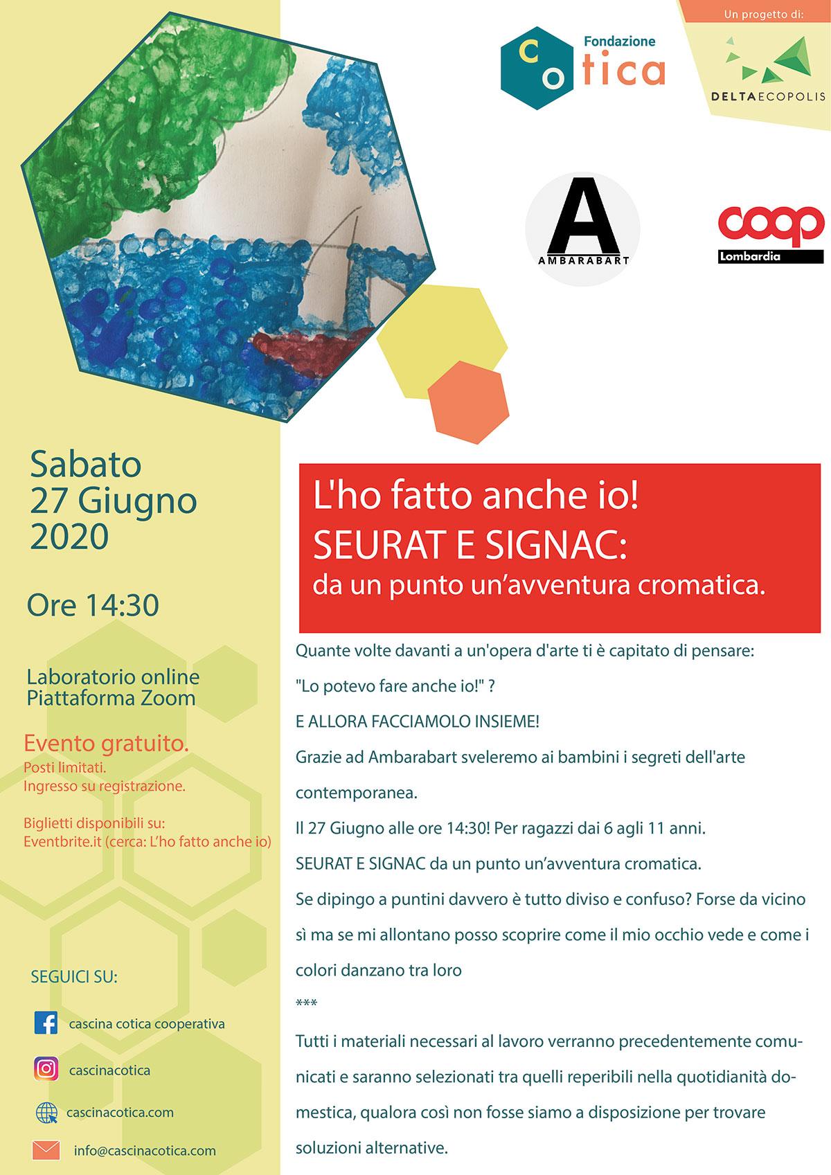 locandina disegno Seurat e Signac