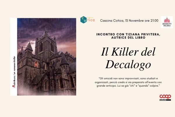 BookCity in Cotica – Il killer del Decalogo, di Tiziana Privitera